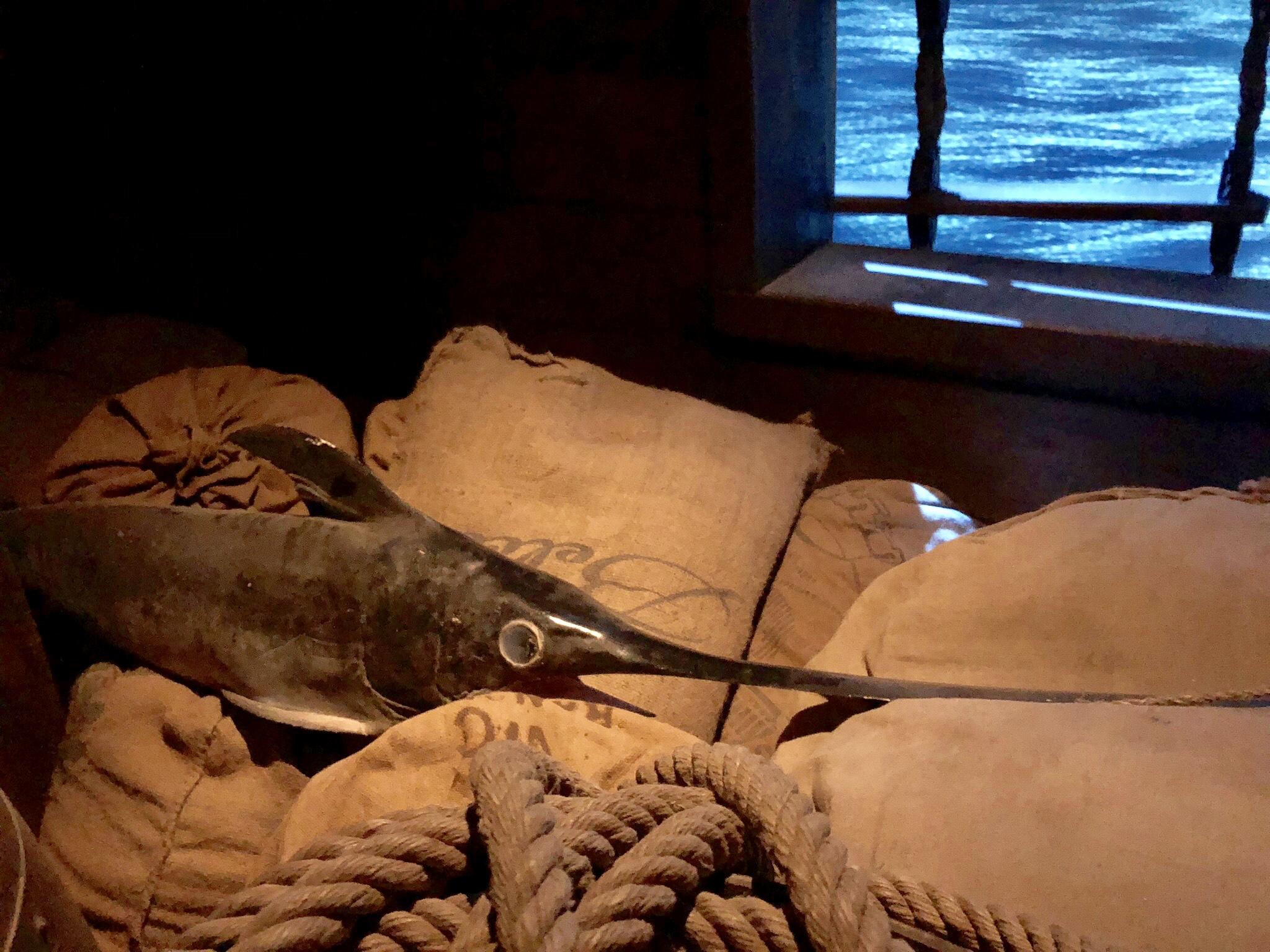 espadon factice, faux poisson réalisé par moulage
