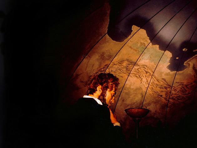 planisphère imaginaire dans salle en demi-sphère, décors pour le musée de la bd à Angoulème